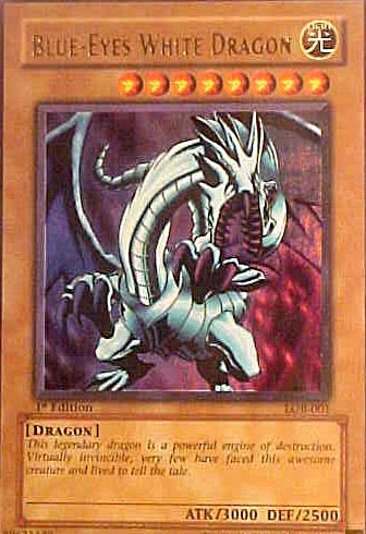 Yu-Gi-Oh Blue-Eyes White Dragon card